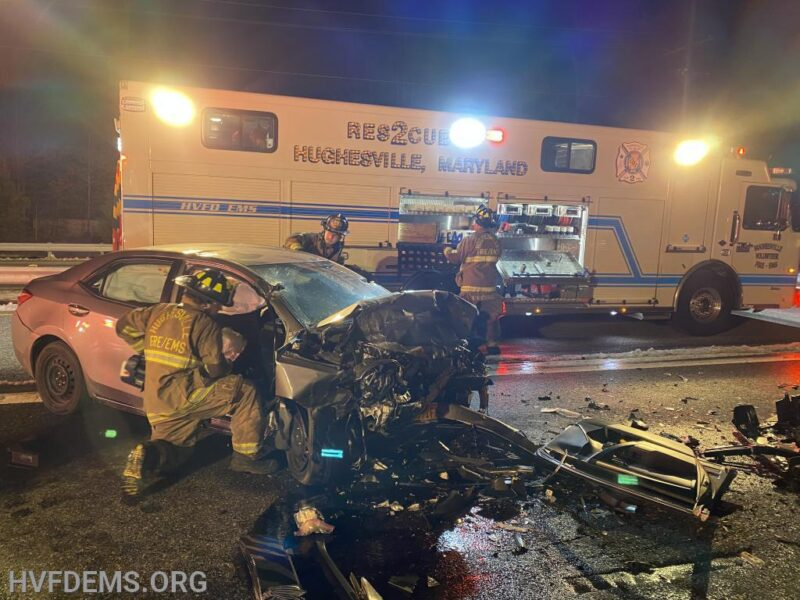 Head-on Collision Leaves Two Trapped in Hughesville, Both Patients Flown to Area Trauma Center