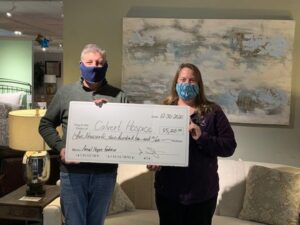 The Furniture Gallery of Prince Frederick Holiday Promotion Raises Over $5,200 for Calvert Hospice