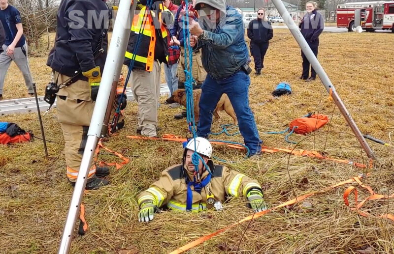 Firefighters Perform Confined Space Rescue in Callaway to Save Dog That Fell Into Well