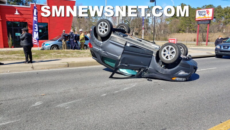 Minor Injuries Reported After Rollover Collision in Lexington Park