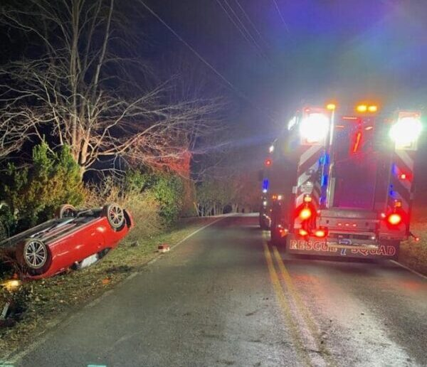One Flown to Area Trauma Center After Rollover Collision in Mechanicsville