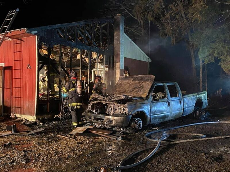 Vehicle Destroyed, Barn Damaged After Fire in Clements, State Fire Marshal Investigating