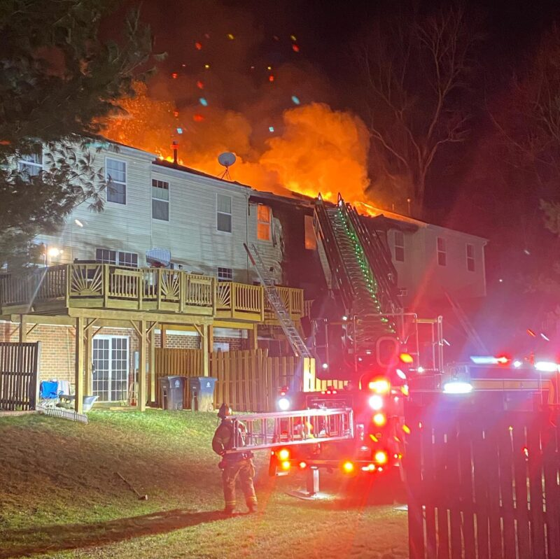 2-Alarm Fire in Prince George's County Under Investigation, Two Adults and Two Children Transported, Sixteen Occupants Displaced