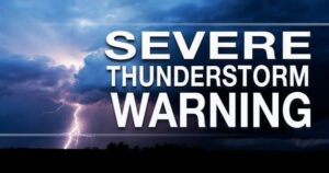 Severe Thunderstorm Warning in Effect for Southern Maryland