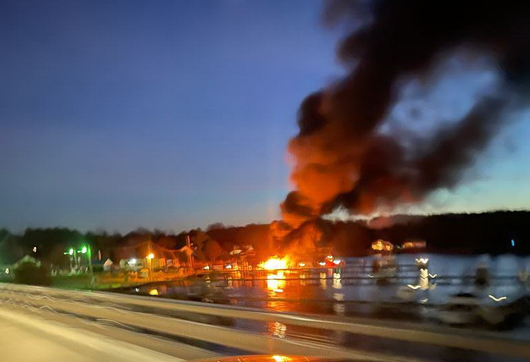No Injuries Reported After Boat Fire in Newburg