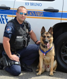 The St. Mary's County Sheriff's Office Sadly Announces the Passing of Retired K9 Bruno