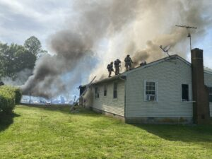 Barn and House Severely Damaged After Fire in Hughesville, No Injuries Reported, One Cat Saved