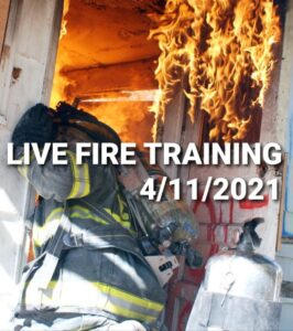 Mechanicsville Volunteer Fire Department Conducting Training Burn on Sunday, April 11, 2021