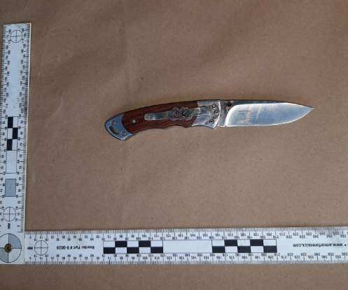 Knife recovered at scene