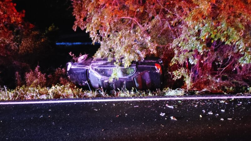 No Injuries Reported After Single Vehicle Rollover on Hermanville Road in Lexington Park