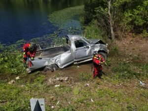 One Flown to Trauma Center After Single Vehicle Rollover in Mechanicsville