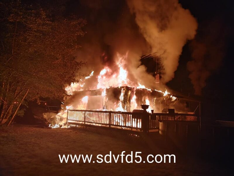 Two Transported to Hospital After Early Morning House Fire in Coltons Point, Fire Under Investigation