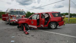 UPDATE: Motor Vehicle Collision Involving Fire Department Vehicle in Leonardtown Sends One to Trauma Center