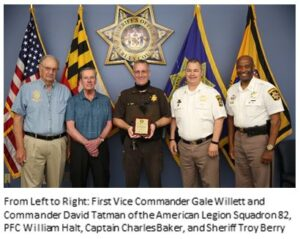 Sons of the American Legion Honor PFC William Halt and Corporal Gregory Champaign as 2019 and 2020 Police Officers of the Year