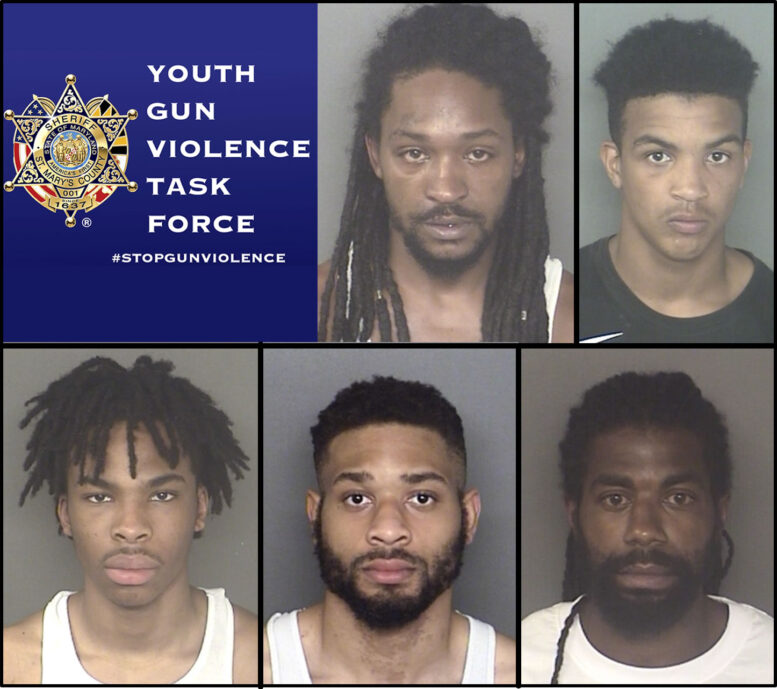 UPDATE: St. Mary's County Sheriff's Office Youth Gun Violence Task Force Make Arrests in Lexington Park