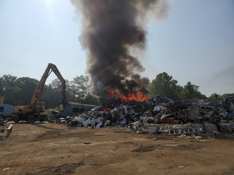 No Injuries After Firefighters Respond to Large Fire at Super Salvage in California