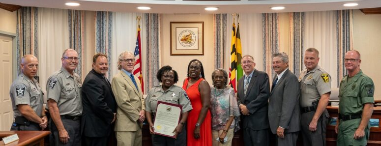 Calvert County Recognizes Master Corrections Deputy Shields After 31 Years of Service