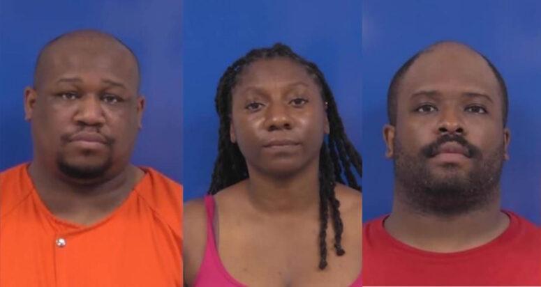 Donte Glenn Frazier, 34 of Landover, Vanessa Donella Fenner, 37 of Silver Spring, and Justin Addison Brickhouse, 32 of Ft. Washington