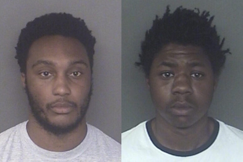 Rejon Markee Barnhill, 20, and James Sylvester Ford Jr., 20, both of Lexington Park