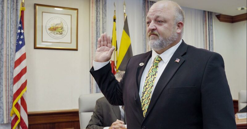 Christopher J. Gadway Sworn in As Calvert County Commissioner