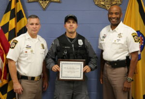 Charles County Sheriff's Office Recognizes Correctional Officer Oliva as Officer of the Quarter