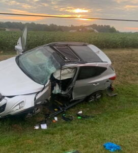 Police Investigating Single Vehicle Collision in Clements, Operator Flown to Area Trauma Center