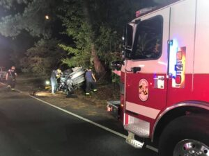 Police in Calvert County Investigating Serious Motor Vehicle Accident in St. Leonard