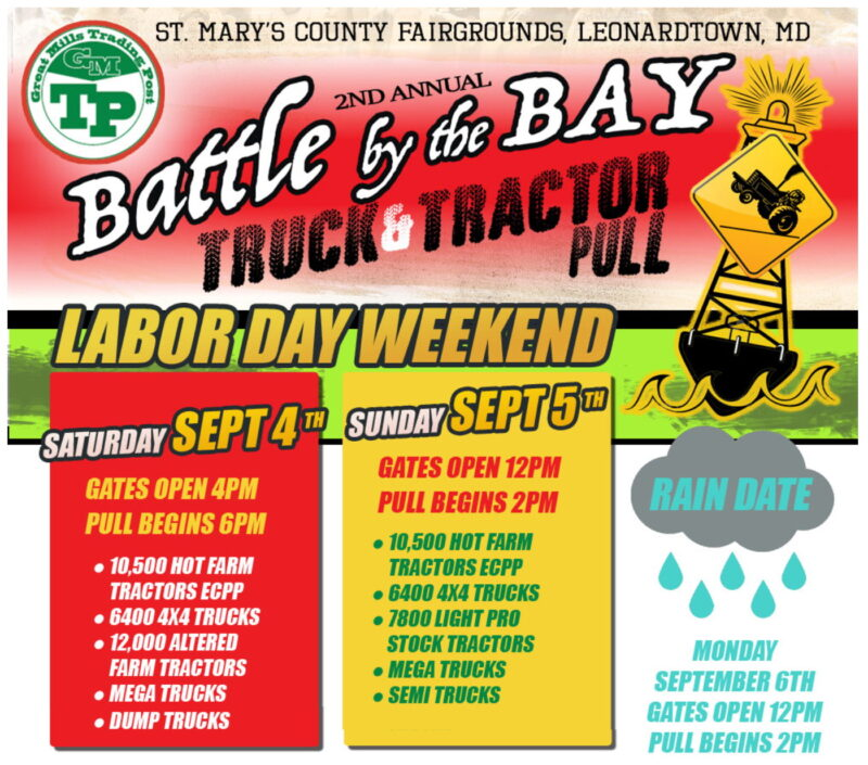 Battle by the Bay Truck and Tractor Pull Returns Back to the St. Mary's County Fairgrounds This Labor Day Weekend!