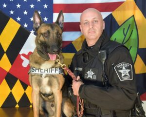 Calvert County Sheriff's Office Announces Retirement of K9 Maximus