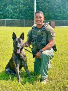 Calvert County Sheriff's Office Welcomes New K9 Zeus!