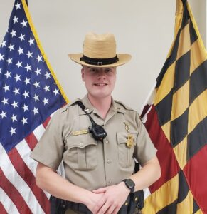 Trooper John Engleman Named as the Maryland State Police Leonardtown Barrack's Trooper of the Month