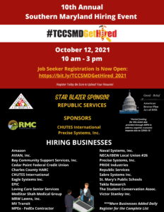 Tri-County Council for Southern Maryland Hosting 10th Annual Southern Maryland Hiring Event on Tuesday, October 12, 2021