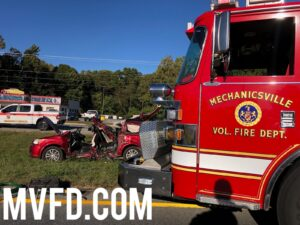 Two Flown to Area Trauma Center with Serious Injuries After Mechanicsville Motor Vehicle Collision