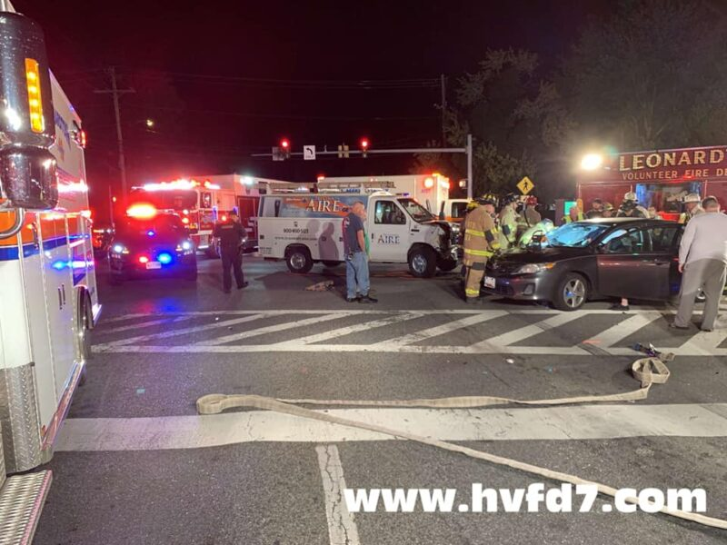One Injured After Motor Vehicle Collision in Leonardtown